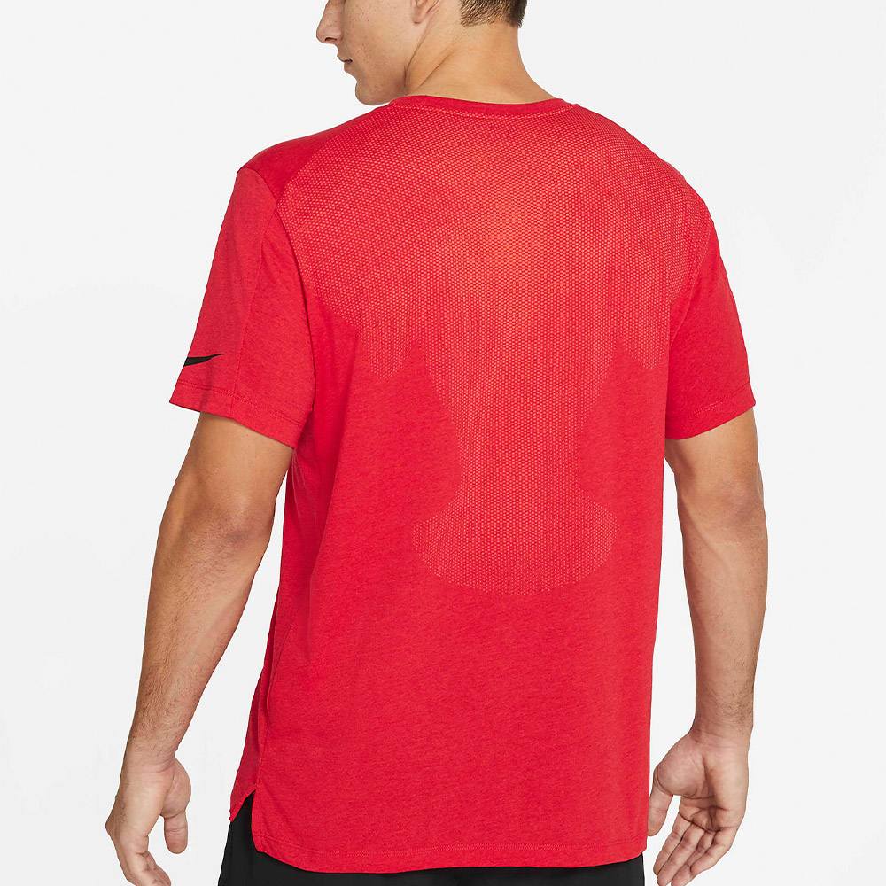 NIKE PRO M. T-SHIRT - ROSSO