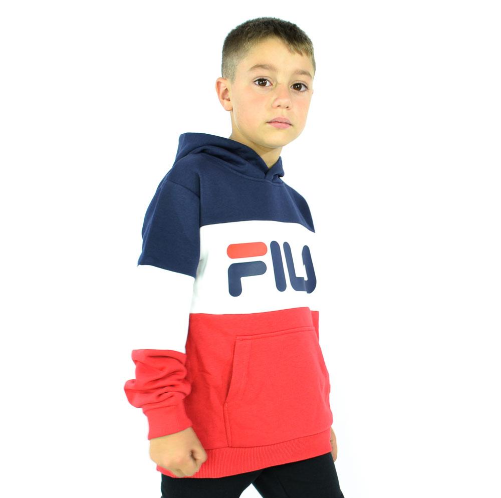 FILA B. FELPA CAPPUC - BLU-ROSSO